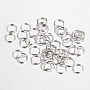 Platinum Ring Iron Close but Unsoldered Jump Rings(X-IFIN-A018-7mm-P)