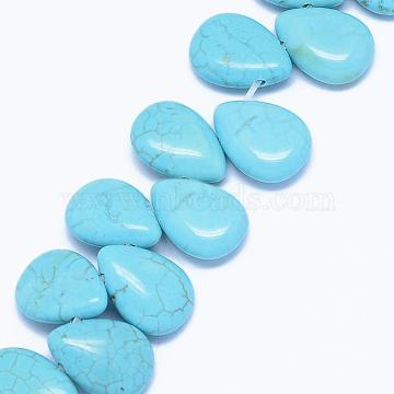 14mm SkyBlue Teardrop Natural Turquoise Beads
