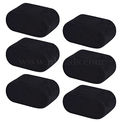 Présentoirs de montres en cuir, recouvert de velours, noir, 72x44x35mm(BDIS-WH0004-02)