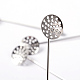 Platinum Brooch DIY Findings Pin Back(X-KK307-NF)-4