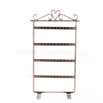 Iron Pedestal Display Stand, Jewelry Display Rack, Red Copper, 17.5x31cm(X-PCT058-02)