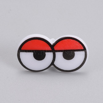 Craft Plastic Doll Eyes, Stuffed Toy Eyes, Colorful, 16.5mm; Pin: 6mm; Eye: 17x31mm(DIY-WH0045-03)