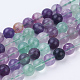 Natural Fluorite Beads Strands(G-P318-05-8mm)-1