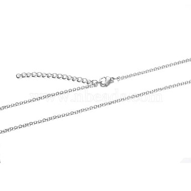 304 Stainless Steel Cable Chain Necklace(X-STAS-T040-PJ204-70)-2