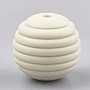 15mm Beige Round Silicone Beads(X-SIL-T050-05L)