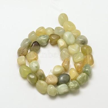 Natural Xiuyu Jade Nuggets Beads Strands(G-P092-36)-2