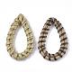 Handmade Reed Cane/Rattan Woven Linking Rings(WOVE-T006-006B)-2
