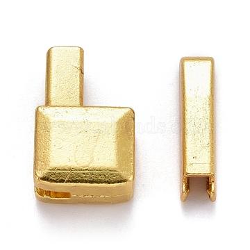 Clothing Accessories, Zinc Alloy Zipper Repair Down Zipper Stopper and Plug, for Zipper Repair, Lead Free & Cadmium Free, Golden, 16x10x6mm; 16x3.5x4mm; 2pcs/set(IFIN-F278-04G-RS)