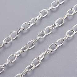 Железо кабельные сети, несварные, серебро , ссылка: 4.5x7 mm, толщиной 1 мм (X-CHT008Y-S)