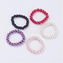 Perles en perles en verre, rond, couleur mixte, 20mm(RJEW-JR00194)