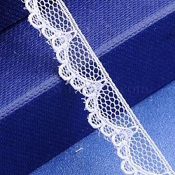 """Fil de nylon de garniture de dentelle pour la fabrication de bijoux, blanc, 3/8"""" (9 mm); 300yards / roll (274.32m / roll)(OCOR-I001-135)"""