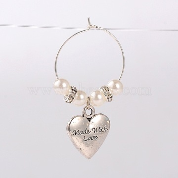 White Glass Wine Glass Charms
