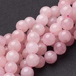 Natural Rose Quartz Beads Strands, Round, 14mm, Hole: 1mm; about 28pcs/strand, 15.5inches