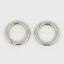 Anneau de porte à ressort en 304 acier inoxydable, o bagues, couleur inoxydable, 24x4mm(STAS-Q032-1)