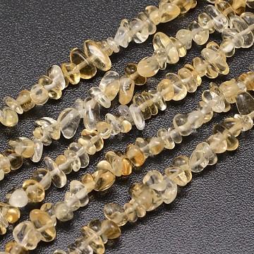 3mm Chip Citrine Beads
