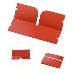 Organisateur de clip de rangement en plastique pliable portable, pour couvre-bouche jetable, rouge, 190x120x0.3mm(AJEW-E034-71D)