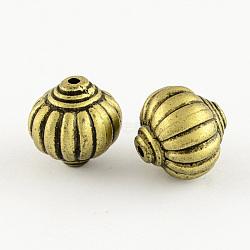 Lantern Antique Acrylic Beads, Antique Bronze, 14x14mm, Hole: 2mm(X-PACR-S208-47AB)