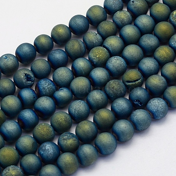 10mm Round Druzy Agate Beads