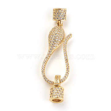 Real Gold Plated Clear Brass+Cubic Zirconia Clasps