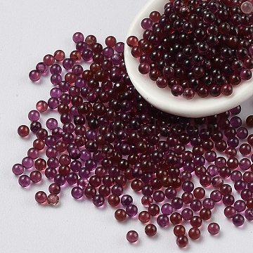 Natural Garnet Beads, No Hole, Round, 1.9~2mm(G-Z016-03C)