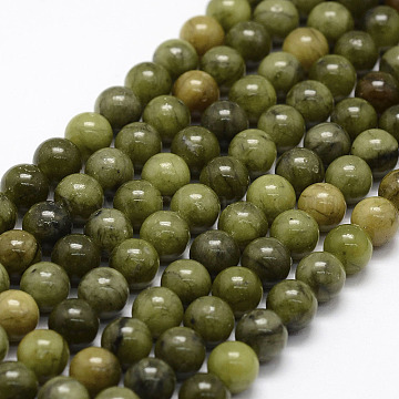 Natural Chinese Jade Beads Strands, TaiWan Jade, Round, 6mm, Hole: 1mm; about 64pcs/strand, 15.5 inches(X-G-F363-6mm)