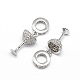 Large Hole Brass Micro Pave Cubic Zirconia European Dangle Beads(CPDL-E027-02P)-1