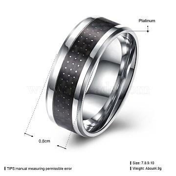 Black Titanium Steel Finger Rings