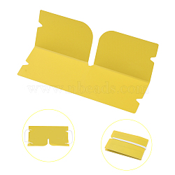 Organisateur de clip de rangement en plastique pliable portable, pour couvre-bouche jetable, jaune, 190x120x0.3mm(AJEW-E034-71E)