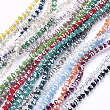 4mm Mixed Color Rondelle Glass Beads