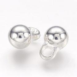 Ccb пластиковые круглые шары, серебряные, 12x8 мм, отверстие : 3 мм(CCB-J031-08S)