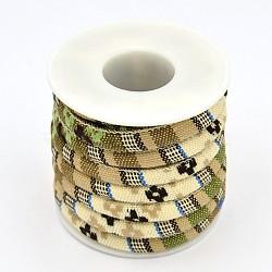 tissu de corde cordes ethniques, navajowhite, 6 mm; sur 5 mètres / rouleau(OCOR-F001-08)