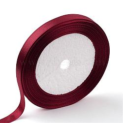 "Ruban de satin à face unique, Ruban de polyester, DarkRed, 1"" (25 mm) de large, 25yards / roll (22.86m / roll), 5 rouleaux / groupe, 125yards / groupe (114.3m / groupe)(RC25mmY048)"