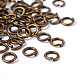 90pcs Antique Bronze Brass Jump Rings(X-JRC6MM-AB)-3