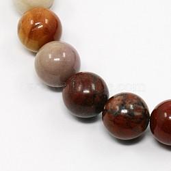 """Mookaite naturel chapelets de perles rondes, mookaite, 10mm, trou: 1mm; environ 38 pcs/chapelet, 15.3""""(G-N0044-10mm-01)"""