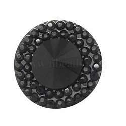 Cabochons en résine, facette, cône, noir, 10x4mm(CRES-S049-10mm-2)