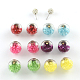 Double Sided Glass Ball Stud Earrings(EJEW-Q683-M)-1