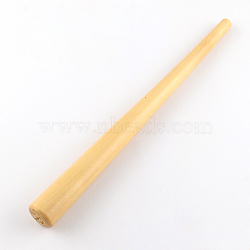 Wood Ring Enlarger Stick Mandrel Sizer Tool, for Ring Forming and Jewelry Making, Wheat, 28x1.2~2.5cm(TOOL-TA0005-03)