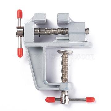 Aluminum Alloy Mini Table Bench Vise, Miniature Clamp Mini Tool, Gray, 8.2x8.6x3.6cm(AJEW-I060-01)