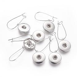 латунные обручи, провода почек, для кнопки ювелирных оснастки, платина, 54 mm; контактный: 0.8 mm(KK-L180-001P)