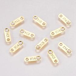 304 maillons / connecteurs en acier inoxydable, sculpté k14, ovale, or, 11x3.5x0.5mm, Trou: 0.8mm(STAS-G173-18G)