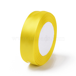 """Ruban satin, jaune, 1"""" (25 mm) de large, 25yards / roll (22.86m / roll), 5 rouleaux / groupe, 125yards / groupe (114.3m / groupe)(RC25mmY015)"""