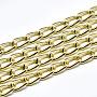 Aluminium Curb Chains, Unwelded, Golden, 12x6.5x1.5mm