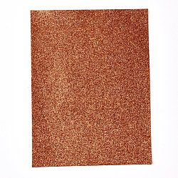 Halloween Theme Imitation Leather Fabric, for Garment Accessories, Chocolate, 21x16x0.05cm(DIY-D025-A01)