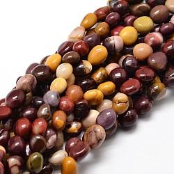 """Pépites de Mookaite naturelles perles brins, 5~10x6~7x3~7mm, trou: 1 mm; environ 14.9""""~15.7""""(G-J335-35)"""