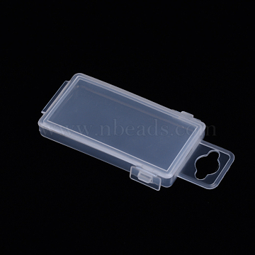 Polypropylene(PP) Bead Storage Container, Mini Storage Containers Boxes, with Hinged Lid, Rectangle, Clear, 7x3.6x1.1cm; Inner Size: 6.5x3.3cm(CON-S043-003)