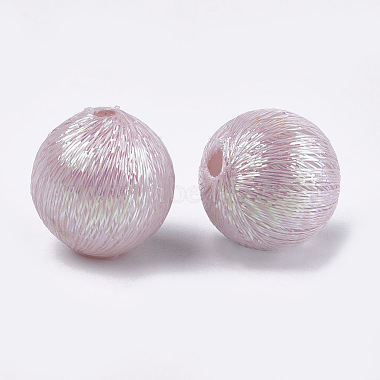 Polyester Thread Fabric Covered Beads(WOVE-T009-14mm-04)-2