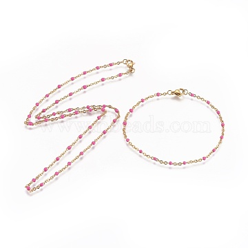HotPink Stainless Steel Bracelets & Necklaces