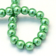Baking Painted Pearlized Glass Pearl Round Beads Strands(X-HY-Q330-8mm-69)-4
