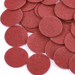 Tampon de parfum en tissu non tissé, plat rond, rouge, 19~20x0.6 mm; environ 2000 PCs / sac(DIY-S035-10E-20mm)