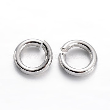 Platinum Ring Brass Open Jump Rings